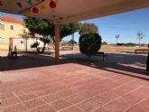 Trabajos de reparación y acondicionamiento en la Plaza de Los Cachimanes