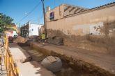 Ultiman las obras de mejora de la red de saneamiento en Mazarrón y Puerto