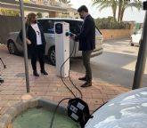 San Javier estrena los dos primeros puntos municipales de recarga  para vehículos eléctricos