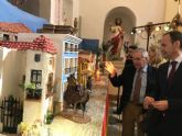 El consejero Javier Celdrán pregona la Navidad en Ojós y visita el Museo de Belenes del Mundo
