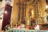 Se celebra la solemne eucaristía en honor a la Patrona de Totana coincidiendo con su onomástica en su primera jornada en el templo parroquial de Santiago