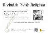 Recital de poesía religiosa en Ricote