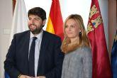 Fernando López Miras recibe a la alcaldesa de Las Torres de Cotillas