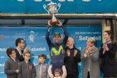 Noelia Arroyo entrega el Gran Premio de la Vuelta Ciclista a la Regi�n de Murcia a Alejandro Valverde