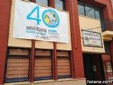 Colocan una pancarta del 40 Aniversario del Trasvase Tajo-Segura en la fachada de la Comunidad de Regantes de Totana