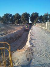El Ayuntamiento de Molina de Segura ha llevado a cabo una inversión total de 800.000 euros en la red de saneamiento y el colector general que conectarán con la futura depuradora de Los Valientes