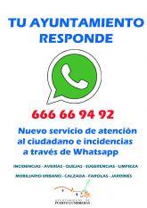 Los ciudadanos de Puerto Lumbreras podrán comunicar incidencias y averías a través de Whatsapp