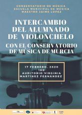 El Conservatorio Profesional y la Escuela Municipal de Música Maestro Jaime López de Molina de Segura organizan un intercambio de alumnado de violonchelo el lunes 17 de febrero