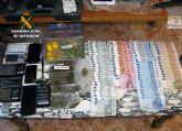 La Guardia Civil desmantela un punto de venta de droga y receptación de objetos sustraídos en Totana