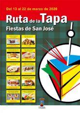 Aplazados los actos con motivo de las Fiestas de San Jos� pero se mantiene la Ruta de la Tapa del 13 al 22 de marzo