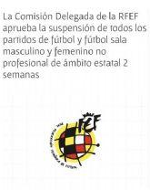 Zambú CFS Pinatar suspende todas sus actividades