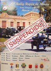 Se suspende el XX Rally Regi�n de Murcia, previsto para este fin de semana