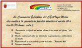 Abierto el plazo de solicitud de matrícula para el Centro Comarcal de Educación de Adultos Vega Media de Molina de Segura hasta el día 30 de mayo