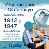 Mañana miércoles recibirán la segunda dosis de Pfizer los nacidos entre 1942 y 1947 en el Pabellón Diego Calvo Valera