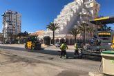 El Ayuntamiento de Cartagena renueva el asfalto en la Gran Vía de La Manga