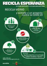 El Ayuntamiento de Puerto Lumbreras se suma a la campana de Ecovidrio 'Recicla Esperanza' para ayudar en la lucha contra el cambio climático