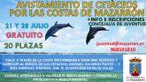 Juventud programa salidas en barco para avistar cetáceos en la bahia de Mazarrón