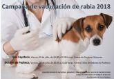 Campaña de vacunación de rabia en animales