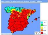 Riesgo extremo de incendio ma�ana lunes en la Regi�n de Murcia