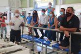 El consejero de Agua, Agricultura, Ganadería, Pesca y Medio Ambiente visita la Cofradía de Pescadores de San Pedro del Pinatar