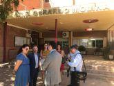 El Alcalde de Torre-Pacheco, y el director general de Formación Profesional y Enseñanzas de Régimen Especial visitan el Instituto de Educación Secundaria Gerardo Molina.