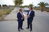La Comunidad finalizará la reconstrucción del paseo peatonal de la carretera que conecta Ceutí con Alguazas