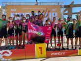 Rafa Navarro se proclama Campeón de Espana de Triatlón Contrarreloj por Equipos de Talentos junto al Saltoki Trikideak