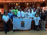 Recepción en el Ayuntamiento de Molina de Segura a los integrantes del equipo de fútbol sala Los Piratas de AFESMO, campeones de la Supercopa Liga FEAFES