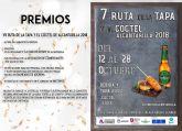Mañana viernes se inaugura en Alcantarilla la séptima Ruta de la Tapa y el Cóctel, que se celebrará en nuestra ciudad del 12 al 28 de octubre, con 21 establecimientos participando en la misma