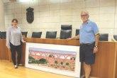 El polifacético artista Alfonso Gallego dona una pintura al Ayuntamiento de Totana