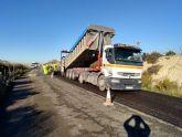 Fomento mejora el firme de la carretera que c onecta Cañadas de San Pedro con el límite de la provin cia de Alicante