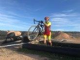 Francisco C�novas, del Club Ciclista Santa Eulalia, particip� en la segunda prueba del circuito de ciclocros de la regi�n de Murcia