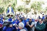 La Purísima llega a Mazarrón entre cánticos y vítores a la 'Virgen del Milagro'