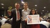 Noemí Caja y Thomas Bonsack, del Club Totana Triathlon, premiados en la Gala de Triatlon Región de Murcia