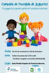 El PP de Puerto Lumbreras se suma al reto solidario de recoger juguetes para los niños más necesitados