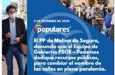 El PP de Molina de Segura, denuncia que el Equipo de Gobierno PSOE  Podemos dedique recursos públicos, para cambiar el nombre de las calles en plena pandemia