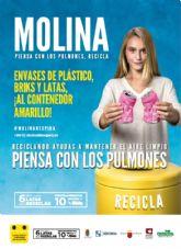 Molina de Segura cierra la campaña Molina, piensa con los pulmones, recicla con el acto de entrega de premios del concurso de radio Cómo reciclar en casa en el contenedor amarillo