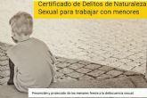 Justicia recuerda la obligación de presentar el certificado de delitos sexuales para las actividades relacionadas con menores