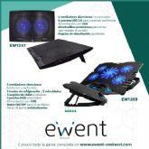 Los soportes con ventilación de Ewent mantienen el portátil refrigerado durante el verano