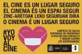 Bajo el lema ´El cine es un lugar seguro´ el Instituto de la Cinematografía y de las Artes Audiovisuales (ICAA) se suma a la campaña #YoVoyAlCine