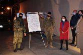 Margarita Robles agradece las labores de desinfección realizadas por militares en un centro de mayores de Madrid