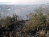 Incendio agrícola en Pliego