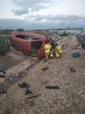 Trasladan al hospital a dos heridos en accidente de tráfico en Librilla