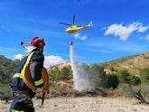 Conato de incendio forestal declarado junto al embalse del Mayés, en Ojós