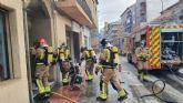 Incendio en un cuarto de contadores de un edificio de Santomera