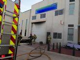 Incendio en una nave de Auto Recambios en Fuente Álamo