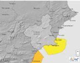 La Agencia Estatal de Meteorología mantiene para la Región de Murcia amarillo de fenómenos costeros