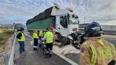 Herido un camionero en un accidente de tráfico en la autovía A-30, Fortuna