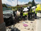 Fallece el conductor de un turismo en un accidente de tráfico ocurrido en Cieza