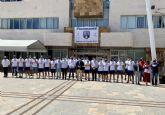 Los jugadores del Mar Menor visitan el Ayuntamiento tras el ascenso del equipo a 2a
